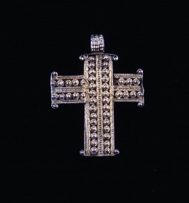 Cross with rows of dots