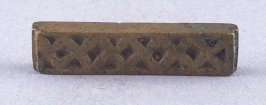Goldweight with rectangular shape