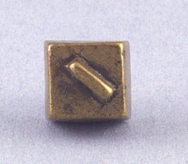 Goldweight with diagonal lines