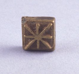 """Goldweight with raised """"X"""" design"""