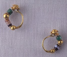 Pair of Earrings with Dolphin Heads