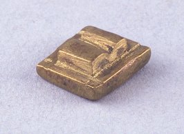 Goldweight with double line or bar pattern