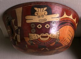 Bowl with two warrior demons and trophy heads