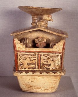 Vessel in the form of a palace with a wall frieze