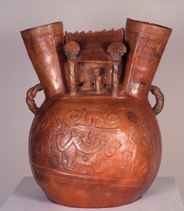 Large double spout architectural vessel