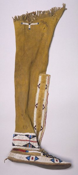 Woman's moccasin and legging for right foot