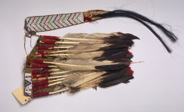 War bonnet worn by High Back Bear at the battle of Goose Creek, Dakota