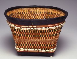 Basket with black band on top and black bottom