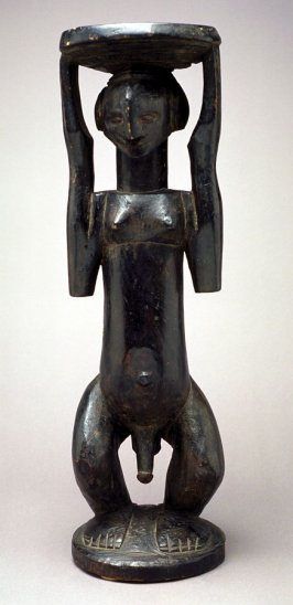 Standing Male Caryatid with Stool