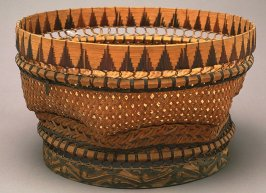 Medium-sized basket with perforated, decorative detail