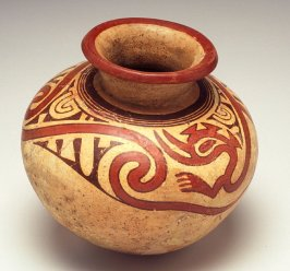 Bowl with serpent motif