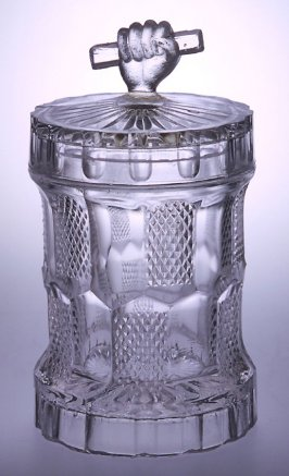 Jam jar with Hand and Bar Lid