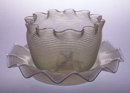 Lutx threaded bowl and saucer