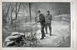 Tracking Rabbits, from Harper's Weekly, (December 20, 1873), p. 1132