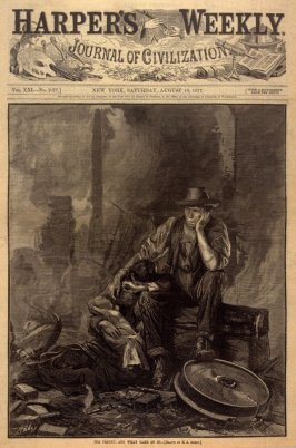 The Frenzy and What Came of it, from Harper's Weekly (18 August 1877), p.