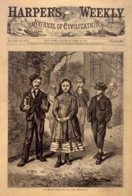 The Reigning Belle, from Harper's Weekly, (21 July 1877)