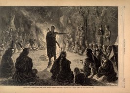 Around the Council Fire - the Young Brave's Speech, from Harper's Weekly (10 May 1873), p. 392