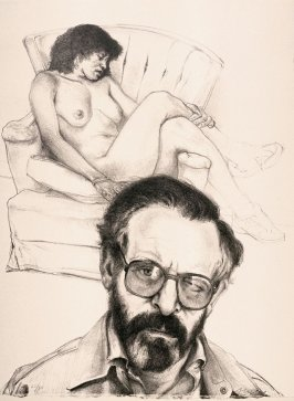 Self-Portrait with Glasses and Model