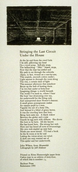 """Illustration to the poem """"Stringing the Last Circuit Under the House"""" - from """"Meanwhile"""""""