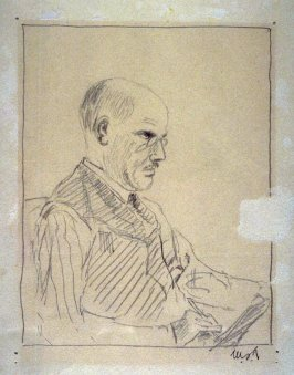 Herman Smith drawing in Life Class, Pittsburgh, Pa