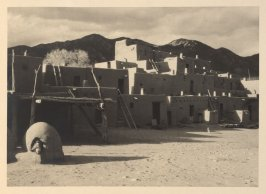 North House (Hlauuma), plate I from Taos Pueblo (San Francisco: Grabhorn Press, 1930)