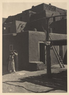 South House, Woman Winnowing Grain, plate X from Taos Pueblo (San Francisco: Grabhorn Press, 1930)