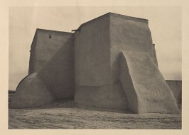 Church at Ranchos de Taos, plate XII from Taos Pueblo (San Francisco: Grabhorn Press, 1930)