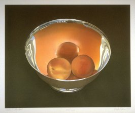 Peaches in a Silver Bowl