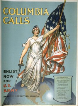Columbia Calls - World War I poster