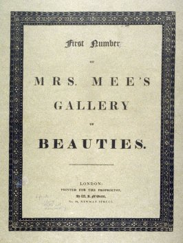 Cover, Title page and Dedication of - Mrs. Mee's Gallery of Beauties