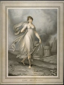 Lady Heathcote, illustration from 'Mrs Mee's Gallery of Beauties'