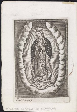 Untitled (Our Lady of Guadalupe), a page accompanying a thesis submitted to the law faculty in Guadalajara by Joseph Turibius Gonzalez et Ramirez
