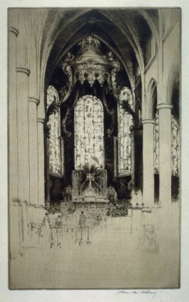 Interior of St. Patrick's, Rouen