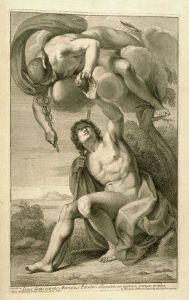 Iovis dictis parens…, first plate in Picturae Francisci Albani in aede Verospia ([Rome?]: no publisher, [1704?]), second part in miscellany with spine title: Opere d. div. pittori et gugliae di Roma.