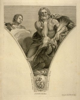 Iuppiter, eleventh plate in Picturae Francisci Albani in aede Verospia ([Rome?]: no publisher, [1704?]), second part in miscellany with spine title: Opere d. div. pittori et gugliae di Roma.
