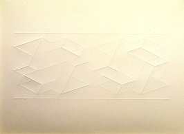 Embossed Linear Construction 2-A, from a portfolio of 8 inkless embossings