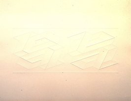 Embossed Linear Construction 2-B, from a portfolio of 8 inkless embossings