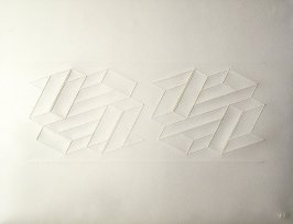Embossed Linear Construction 2-C, from a portfolio of 8 inkless embossings