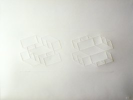 Embossed Linear Construction 1-D, from a portfolio of 8 inkless embossings