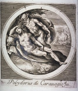 copy in reverse of Jupiter Disguised as a Satyr..., from Mythological Subjects after Polidoro da Caravaggio