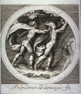 copy in reverse of Apollo Pursuing Daphne, from Mythological Subjects after Polidoro da Caravaggio