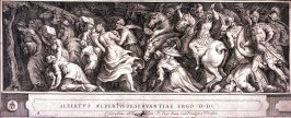 The Triumph of Two Roman Emperors, pl. 4 from a series of engravings after paintings by Polidor da Caravaggio