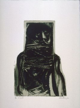 Tormento (Torture), first plate in the portfolio, 21 Estampadores de Colombia, Mexico y Venezuela (21 Printmakers of Colombia, Mexico and Venezuela)