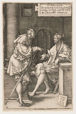 Amnon and Jonadab, plate 1 from the Story of Amnon and Tamar