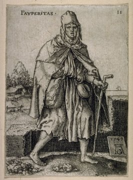 From the set of Fourteen plates, Various Allegorical Figures. Poverty.