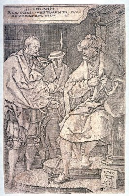 From the set of seven plates, The Story of Amnon and Tamar. David rending his garments at the death of his son