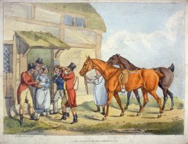Two Fox Hunters Stopping For A Drink At The Inn