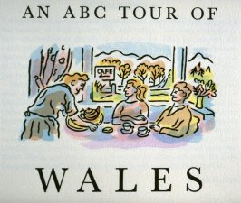 Title page in the book An ABC Tour of Wales ( an alphabet book compiled by the artist) (Gregynog, Wales: Peter Allen, 1994)