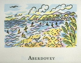 Aberdovey, 2nd illustration in the book An ABC Tour of Wales ( an alphabet book compiled by the artist) (Gregynog, Wales: Peter Allen, 1994)