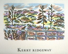 Kerry Ridgeway, 12th illustration in the book An ABC Tour of Wales ( an alphabet book compiled by the artist) (Gregynog, Wales: Peter Allen, 1994)